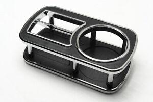 1Pcs Small Rectangle Black Chrome Edge Instrument Desk Table Cup Drink Holder