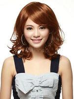 Brown Kanekalon Curly Fashion Medium Wig