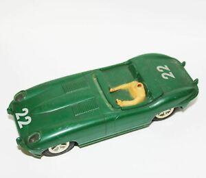 Vintage Green Marx Convertible #22 1/32 scale Slotcar Slot Car Racer Race