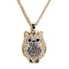 f6ff5443a8e1 Búho Bonito Collar Perla Sintética Diamante Imitacion Colgante Brillante  Pájaro