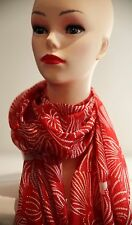 DAVID LAWRENCE Babette silk scarf red - white in colour new with tag