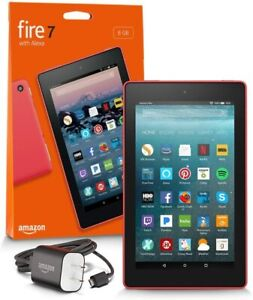 "Amazon Fire 7"" Tablet (7th Generation) w/Alexa 8GB - Punch Red"