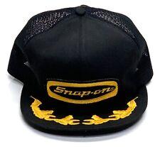 Vintage Snap-On Patch K Products Mesh Scrambled Egg Brim Snapback Trucker Hat