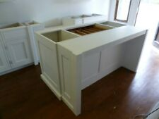 painted kitchen island unit with breakfast bar cabinet handmade