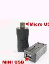 Mini USB Female to Micro B USB Male Type Charger Adapter Connector Converter