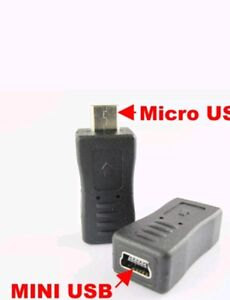 2X Mini USB Female to Micro B USB Male Type Charger Adapter Connector Converter
