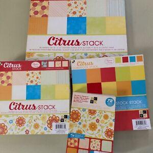 DCWV Citrus Stack scrapbook paper bundle