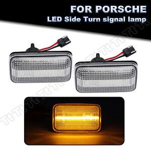 2x LED Side Marker Signal Light For Porsche 911 924 944 968 VW Golf Jetta Passat