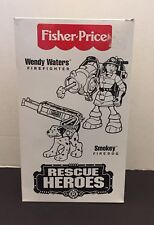 Fisher Price 1998 Rescue Heroes Wendy Waters Firefighter & Smokey Fire Dog *New