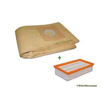 5 Sacchetti Aspirapolvere + 1 x filtro aria/Filtro per Hilti VC 20-u/vc 20-um/vc 40-u