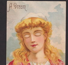 HTL Sleeping Beauty Dream Bohsemeem Spice Hold to Light Advertising Trade Card