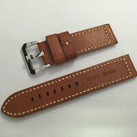 Parnis 22mm Brown Color Leather Watchband Wristwatch Strap For Men's Watch