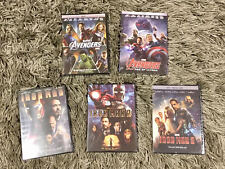 Marvel's Avengers and Iron Man Trilogy 5-DVD Bundle Set BRAND NEW