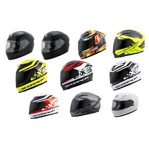 Scorpion EXO-R2000 Motorcycle Helmet Free Dark Smoke Shield - Pick Color Size