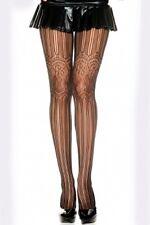 black striped pattern FISHNET stockings  rockabilly/GOTH FISHNET STOCKINGS