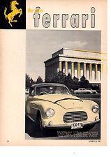 1955 FERRARI 1.6 / MILLE MIGLIA  ~  ORIGINAL 4-PAGE PICTORIAL ARTICLE / AD