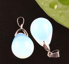 2XArtificial Opal Teardrop Charm Pendant For Drop Dangle Necklace Earring Making