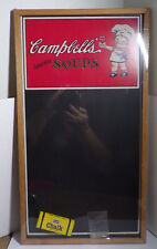 "CAMPBELL'S SOUPS ~ .CHALK BOARD ~ BRISTOL CRAFT ~ NEW ~ 22"" x 12"""