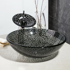 Countertop Black Block Wash Bowl Vanities Sink Bathroom Wash Bowl With Faucet