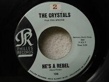 The Crystals 45 He's A Rebel / I Love You Eddie Very Clean 1962 Doo Wop Orig!