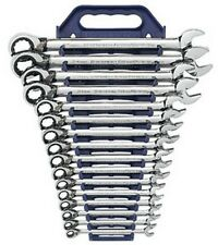 Gearwrench 9602NW 16 Pc. Reversible Comb Ratcheting Met Set W/FREE Combo SAE Set