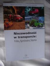 Mercedes Benz Vito, Sprinter, Vario, Prospekt / Brochure / Depliant, Polen