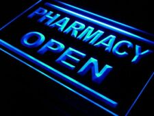 i614-b Pharmacy Drug Stores Display OPEN NEW Light Sign