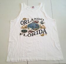 Vintage 1999 Orlando Florida Tank Top Mens Large White