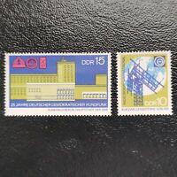 Alemania Oriental año 1970 25º aniversario radiodifusion R.D.A  Nº 1264 y 1265