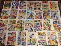 FIRESTORM ANNUAL #1 ORIGINAL ART color guides 28 PAGES, 1983, ENFORCER, FIREHAWK