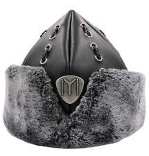 "Turkish Ottoman Bork Hat Ertugrul Dirilis Fur Leather Cap ""Iyi"" #2017i"