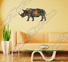 "Cheerful Rhinoceros Rhino Abstract Wall Sticker Room Interior Decor 25""X16"""