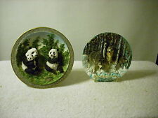 Wolf and Panda Plates Total 2 different collector plates 3d