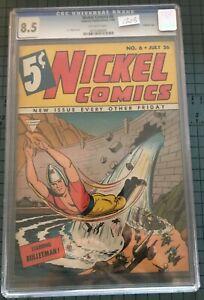 1940 Nickel Comics #6 CGC 8.5. Scarce