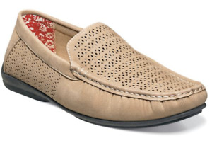 Comfort Driving Summer Shoes Cicero Perforate Stacy Adams Taupe Tan 25172-260