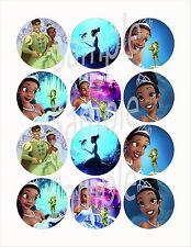 "Princess and the Frog (Disney) 2.25"" Circle Stickers-12pcs, cut & peel"