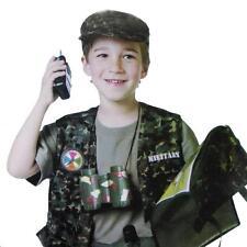 Military Forces Child Desert Rat Army Soldier uniform Costume War Kids Boys 3-7