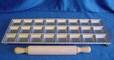 EPPICOTISPAI CAST ALUMINIUM 47mm RAVIOLI MAKER & BEECHWOOD ROLLING PIN SET
