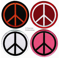 LOT of FOUR 4 PEACE SIGN EMBROIDERED PATCH anti-war symbol EMBROIDERED APPLIQUE