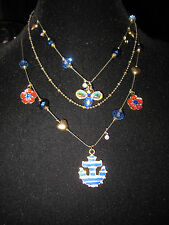 BETSEY JOHNSON YACHT CLUB SPECTATOR NAUTICAL FLOWER BEE ANCHOR NECKLACE