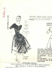 """Vintage 1950s Spadea Pattern Womens DRESS S-245 by Simonetta Sz 10 B34"""" UNUSED"""