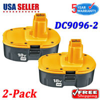 2PACK For Dewalt 18V XRP NICD Battery DC9096-2 DC9098 DC9099 DW9095 DW9096 Drill