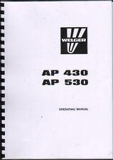 Welger AP 430 & AP 530 Baler Operator Instruction Manual Book