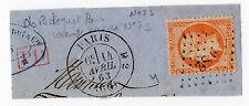 timbre empire N° 23 cachet a date D2 et losange DS2 paris + marque PD rouge 1863