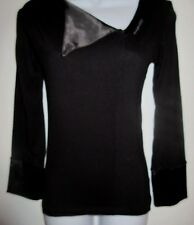 WOMEN'S M.A.C BLACK LONG SLEEVE BLOUSE SIZE X SMALL GREAT CONDITION*
