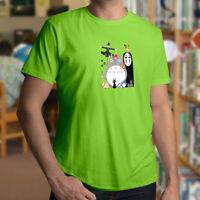 Studio Ghibli Totoro No Face Howl's Castle Cute Anime Mens Unisex Tee T-Shirt