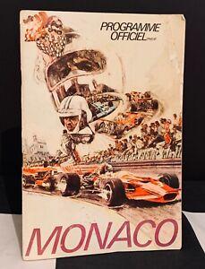 SIGNED 1971 MONACO GP PROGRAMME 15 DRIVERS JO SIFFERT CEVERT HILL CHAPMAN ROIG