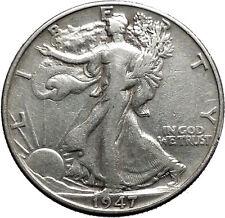 1947 WALKING LIBERTY Half Dollar Bald Eagle United States Silver Coin i44693