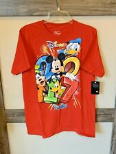 Disney World Florida Mickey Mouse And Friends 2017 Red T-shirt Men's Size M NWT