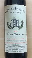 Vin Château Lanessan 1983. Lot de 3 bouteilles